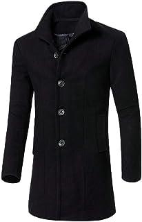 HX fashion Saldi Uomo Giacca Uomo Inverno Taglie Autunno Calde Cappotto Taglie Comode Elegante Bottone Outwear Lungo