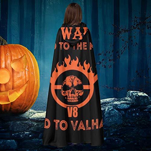 AISFGBJ Mad MAX Doof Warrior - Capa de Disfraz de Bruja con Capucha, Unisex, para Halloween