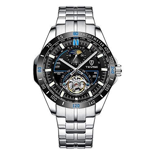 ZWH Tevise Twiss Relojes mecánicos automáticos Hombres un Reloj de marcación Grandes de la Moda Masculina de Seis Pines. (Color : 2, Size : 49mm)