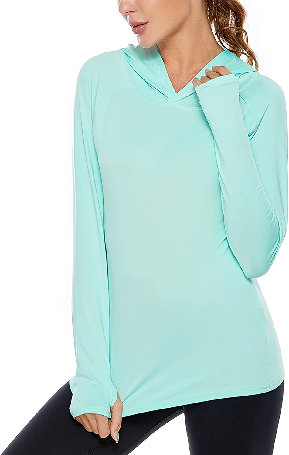Women's UPF 50+ Sun Protection Long Inventory cleanup selling sale Athletic Hikin Sleeve 5% OFF Hoodie