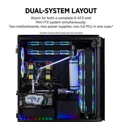 Corsair Obsidian Series 1000D Super-Tower Case, Smoked Tempered Glass, Aluminum Trim, Integrated Commander PRO fan and lighting controller