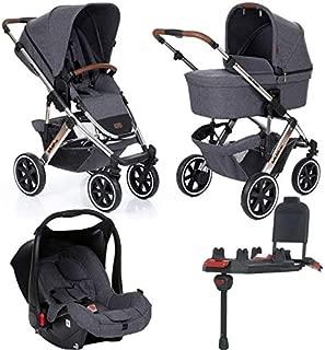 Carrinho de Bebê Salsa 4 Rodas Asphalt (Linha Diamond) + Bebê Conforto + Base Isofix - ABC Design