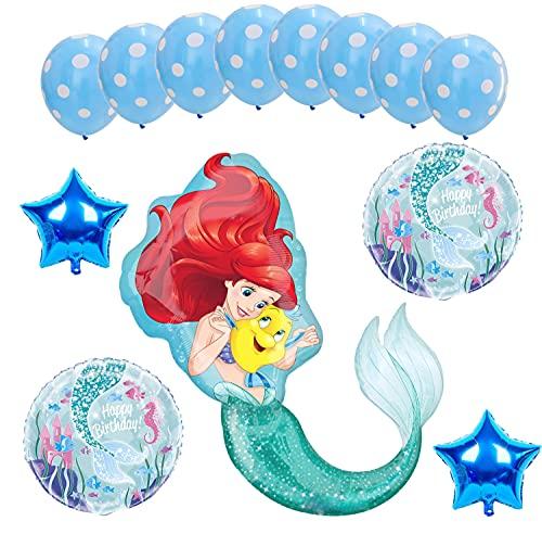 Ariel La Sirenita - Juego de 13 piezas para fiesta de cumpleaños infantil, diseño de La Sirenita Ariel