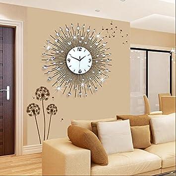 Amazon De Wyf Gz Uhr Wanduhr Wohnzimmer Modern Minimalistischen Europaischen Kreative Mode