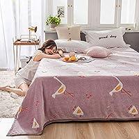 ポーラーフリース 毛布, フランネル 柔らか 居心地の良い 帯電防止 掛け毛布, 用 寝室, ペット, カバー脚-200×230CM-W