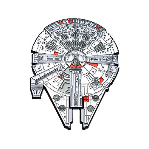 STAR WARS Millennium Falcon Large Enamel Pin 3 X 2.25 inches