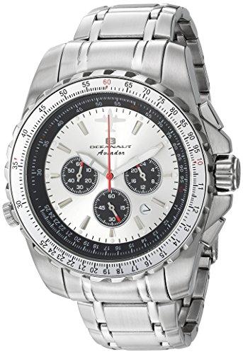 Oceanaut Men's Aviador Pilot Quartz Watch with Stainless-Steel Strap, Silver, 22 (Model: OC0110)