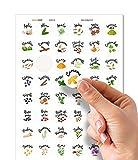 Readyprint 48 Etichette per Erbe e spezie con Illustrazioni Colorate - Italiano - (in PVC Lucido, Materiale plastico Impermeabile, Lavabile) - Mis. 3 cm