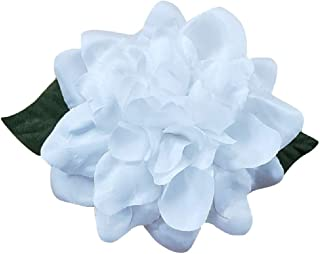 product image for M&S Schmalberg Gardenia SIlk Fabric Flower Pin Brooch Flower White Gardenia Satin