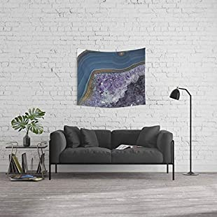 """LilyNa Wall Tapestry, Size Small 51"""" x 60"""", Amethyst Geode Agate"""