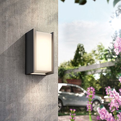 Philips Hue Turaco Led-wandlamp, antraciet, incl. Hue White, wandlamp, outdoor