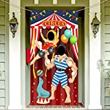 Carnival Circus Party Decoration Carnival Photo Door Banner Backdrop Props, Large Fabric P...