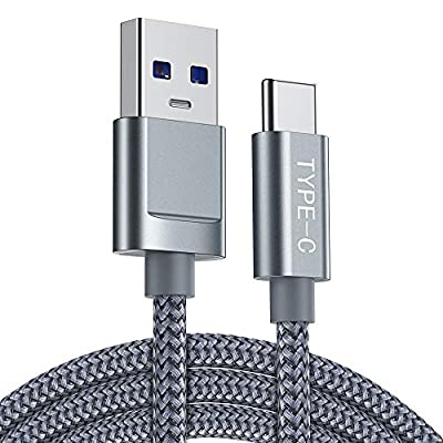 USB C Cable,Fast USB Type C Charging Cable 2m,Snowkids USB Type C Charging Cable 2.0 Nylon Braided for compatible with LG G5/G6,Samsungs S8/S8+,S9/S9+ ect and other Devices with type c interface