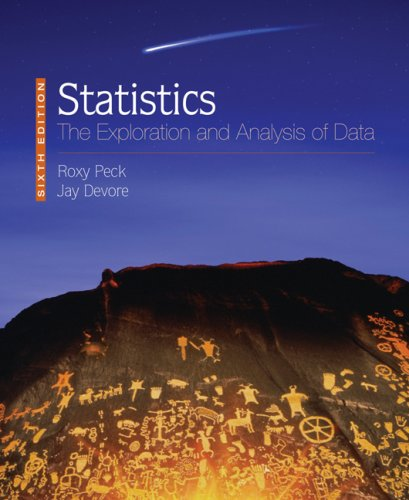 Statistics: The Exploration and Analysis of Data (Available 2010 Titles Enhanced Web Assign)