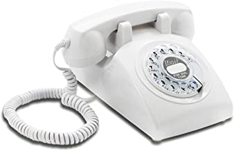 $89 » Opis 60s Cable with Classic United States Rotary Dial Inlay: Designer Retro Phone/Rotary Dial Telephone/Retro Style Phone/...