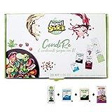 Aperisnack® - AP20.001.01 Condimento per Insalate 25 Kit (100pz) bustine di Sale, Pepe, Olio e Aceto balsamico Modena IGP monodose