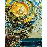 落書き風景ポスターとプリント抽象的な水彩画壁アートパネル創造性キャンバス絵画インテリア北欧キッズルーム家の装飾画像50x70cmフレームなし