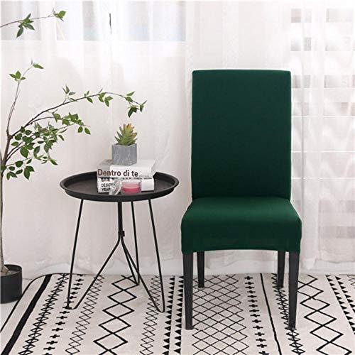 Effen kleur stoelhoezen Spandex eetkamer Stretch stoelhoes Stoel beschermhoes voor restaurantbanket, donkergroen, universele maat