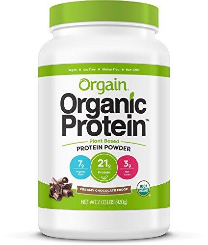 Orgain Organic Plant Based Protein Powder, Creamy...