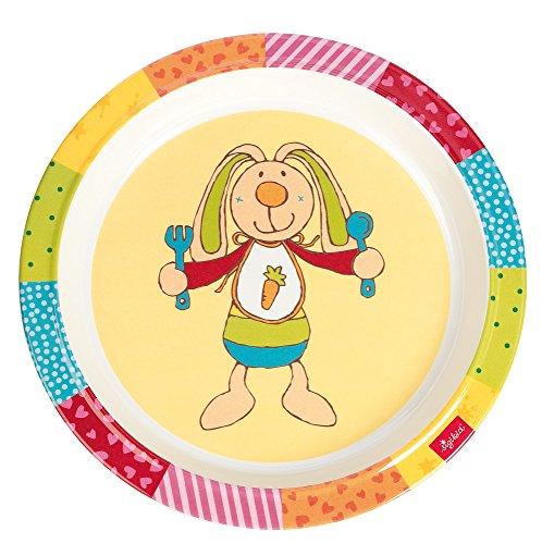 Sigikid Rainbow Rabbit Teller aus Melamin (21,5x 21,5x 2,5cm)