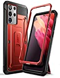SUPCASE Unicorn Beetle Pro Series Case Designed for Samsung Galaxy S21 Ultra 5G (2021 Release), Full-Body Dual Layer Rugged Holster & Kickstand Case Without Built-in Screen Protector (Ruddy)