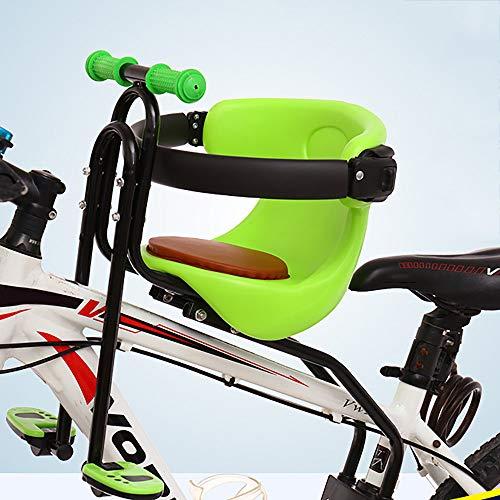 RURUANNA Neuer MTB Fahrrad Kindersitze Vorn - Kinderfahrradsitz Mit Klappbaren Pedalen FR Mountain/Hybrid/Fitness Bikes,Green
