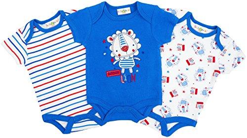 Jack and Lily Set di Abbigliamento per Bambini in Cotone e Sacchetto Regalo con Dinosauro