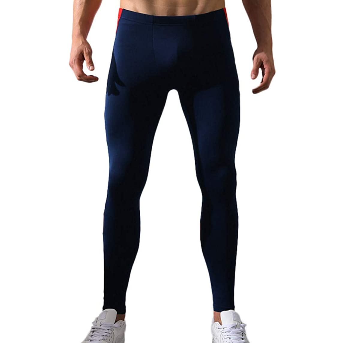 Most Wished! Teresamoon Men's Print Cotton Breathable Sports Leggings Thermal Long Johns Underwear Pants