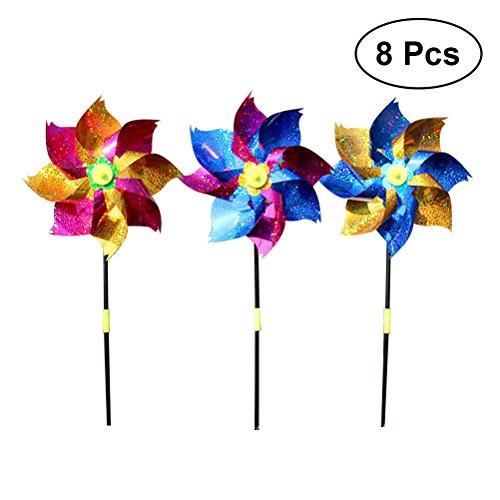 Cold Toy 3D Schmetterling Blume Windm/ühle Wind Spinner Hausgarten Hof Dekoration Kinder Spielzeug