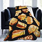 Blanket Grilled Cheese Sandwiches Super Soft Light Weight Cozy Warm Fluffy Plush Blanket for Bed Couch Living Room
