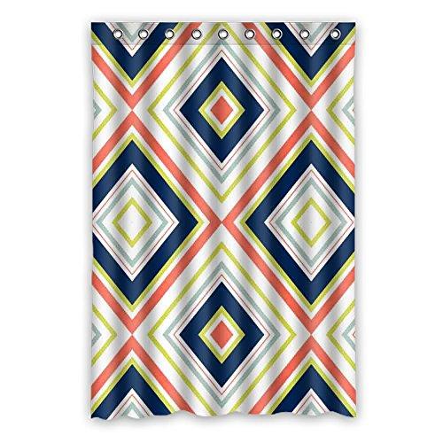 DOUBEE Personalisiert Chevron Wasserdichtes Duschvorhang Polyester Shower Curtain 120cm x 183cm