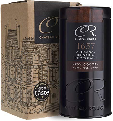 1657 - Cioccolata Calda Fondente Artigianale, 70% di Cacao, Barattolo da Regalo di Lusso, 170g