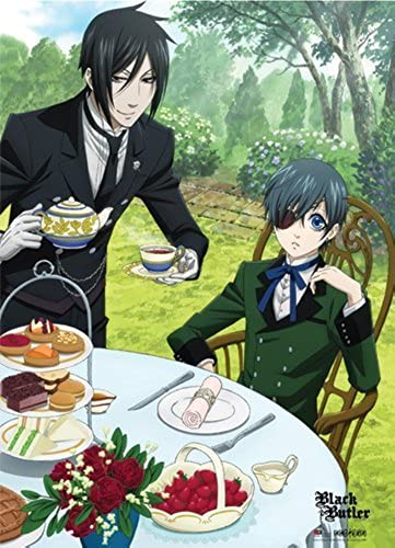 Great Eastern GE77635 schwarz Butler Sebastian and Ciel 29.5 x 42  Dinning Fabric Poster by Great Eastern
