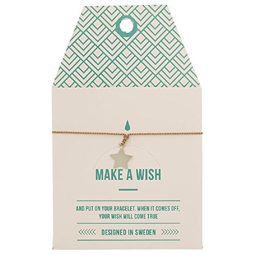 Mint TIMI Wunschkarte Star Stern Armband Silk Silber Mocca Freundschaftsarmband Make a Wish