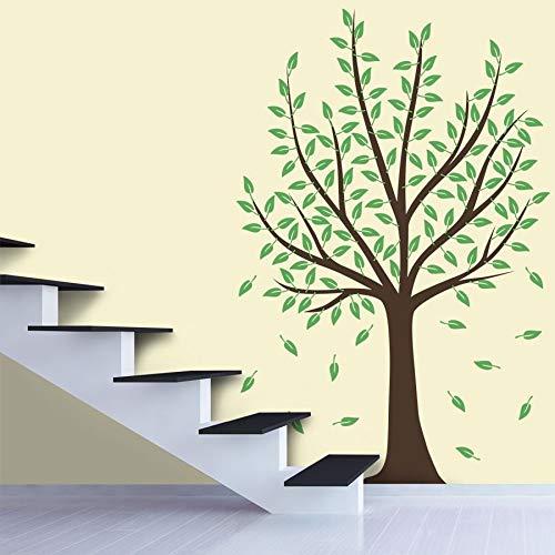 Adesivo Decorativo De Parede Árvore Marrom e Folhas Verdes