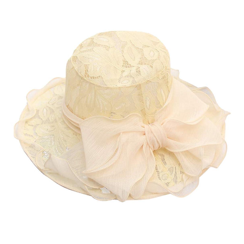 Kinglly Elegant Womens Ladies Church Wide Brim Tea Party Wedding Hat Fancy Derby Fascinator Cap