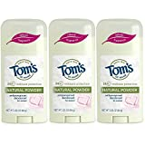 Tom's of Maine Women's Antiperspirant Deodorant Natural Powder - 2.25 Oz, Pack of 3