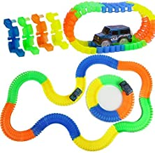 Qualimate Magic Race Bend Flex and Glow Tracks-220 Pieces