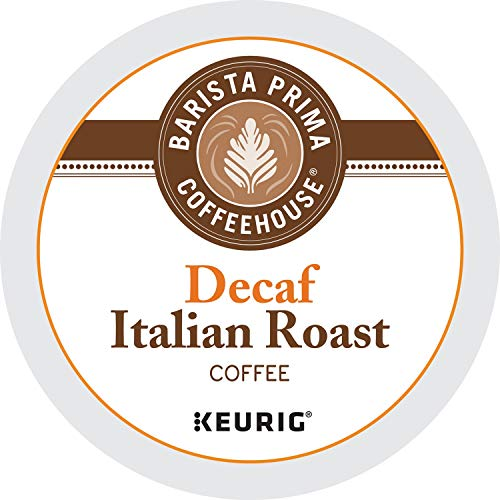 Barista Prima Coffeehouse Dark Roast Extra Bold K-Cup for Keurig Brewers, Decaf Italian Roast Coffee