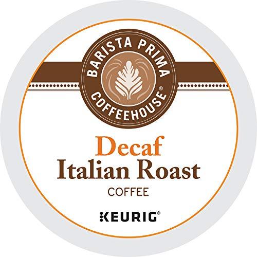 Barista Prima Coffeehouse Dark Roast Extra Bold K-Cup for Keurig Brewers, Decaf Italian Roast Coffee