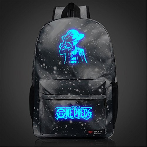 Siawasey Anime One Piece Cosplay luminoso portátil bolsa Bookbag Moch