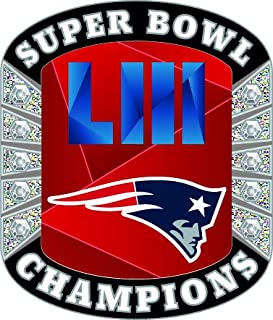 aminco Super Bowl LIII 53 New England Patriots Champions Diamond Lapel Pin 8a4b9129d