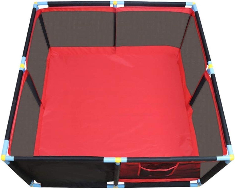 YOUXD Spiel-Zaun-groes bewegliches Baby-Spiel, Kindersicherheits-Spiel-Mittelhof, Hauptinnenzaun, einfach, 128x128x66cm zusammenzubauen (Farbe   Rot)