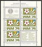 FGNDGEQN Colección de Sellos Bielorrusia Polonia Sello 1974 Munich Football World Cup pequeño Azul Sello Extranjero