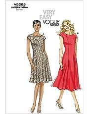 VOGUE PATTERNS V8665 - Patrones de Costura para Vestidos de Mujer (Talla F5: 46-54)