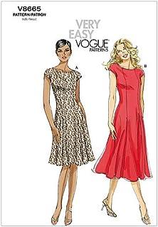 VOGUE PATTERNS V8665 - Patrones de Costura para Vestidos de