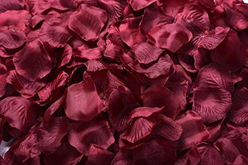 La Tartelette Silk Rose Petals Wedding Flower Decoration (4000 Pcs, Burgundy)