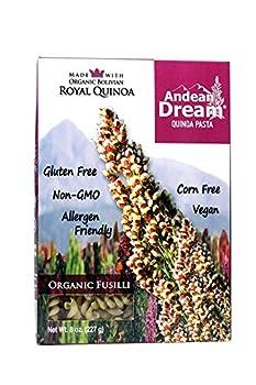Andean Dream Fusilli Quinoa Pasta Gluten Free  3x8 Oz 3