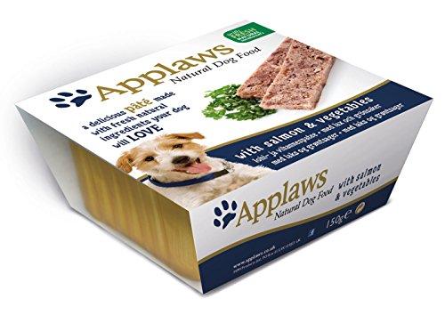 Applaws Dog Nassfutter in Schale Paté 150 g 7 x 150 g mit Lachs & Gemüse