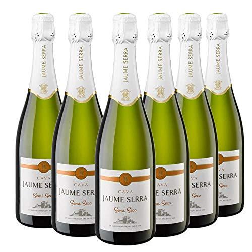 Jaume Serra - Cava Semi Seco - Caja de 6 botellas x 750 ml